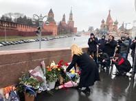 Заместитель посла Австралии Джилл Коллинз возложила цветы в память о Борисе Немцове, убитом 5 лет назад на Большом Москворецком мосту