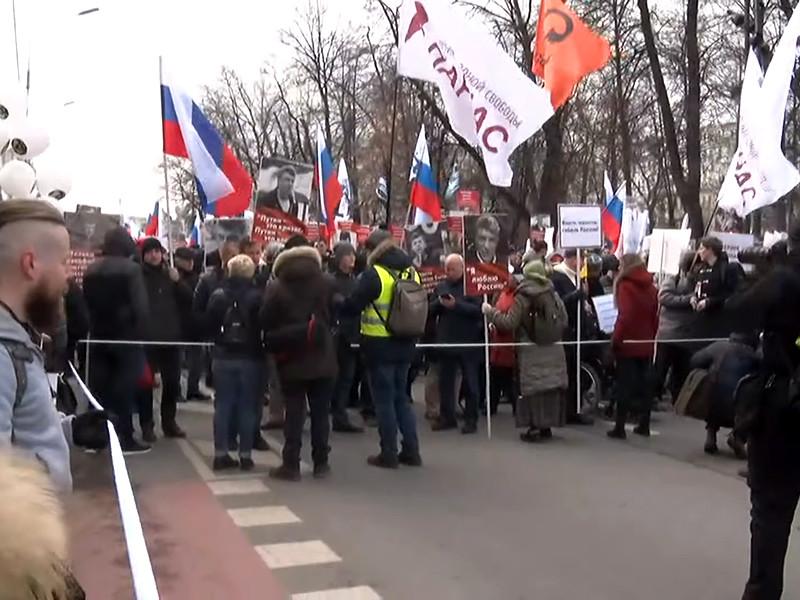 Марш памяти Бориса Немцова в Москве прошел 29 февраля