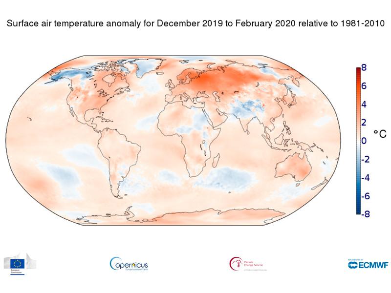 Завершившаяся зима в России стала рекордно теплой