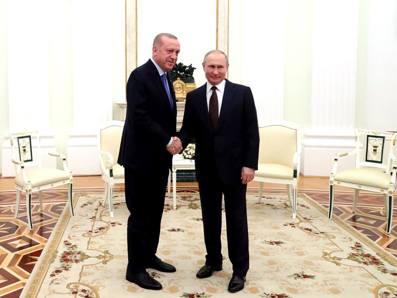 В Москве завершилась личная встреча президентов Турции и России Реджепа Тайипа Эрдогана и Владимира Путина