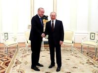 В Москве прошли переговоры Эрдогана и Путина с участием глав Минобороны Турции и РФ