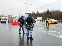 Для усиления контроля на всех въездах в Москву выставлены наряды спецназа ОМОН столичного управления Росгвардии