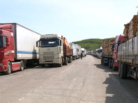 Дальнобойщики устроили забастовку на границе Китая с Приморьем