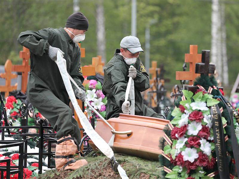Бутовское кладбище, похороны пациентов, умерших от коронавируса, 26 мая 2020 года