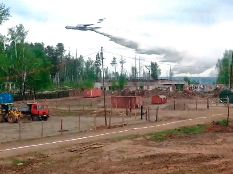 Площадь пожара на территории бывшего военного арсенала Пугачево в Удмуртии за сутки выросла. Возможно введение ЧС