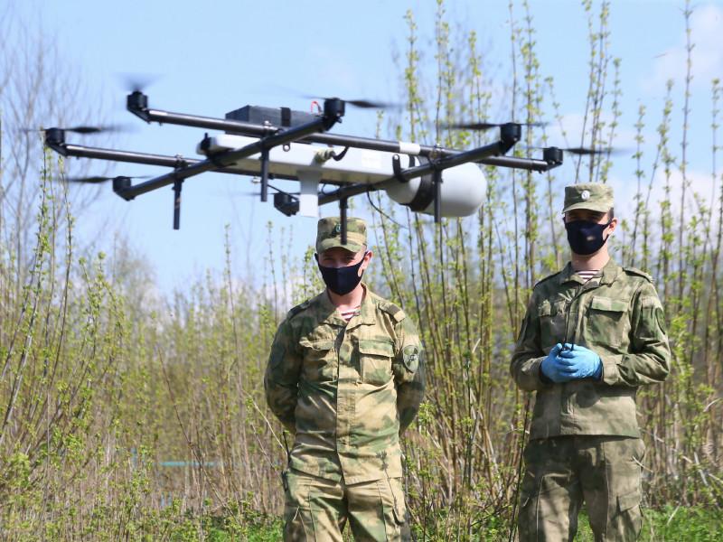 Росгвардия и МЧС следят за отправившимися в парки нарушителями самоизоляции при помощи дронов