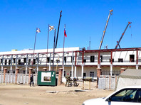 Строительство многофункционального медицинского центра в Улан-Удэ, апрель 2020 года