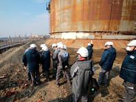 Работы по ликвидации разлива дизельного топлива в Норильске