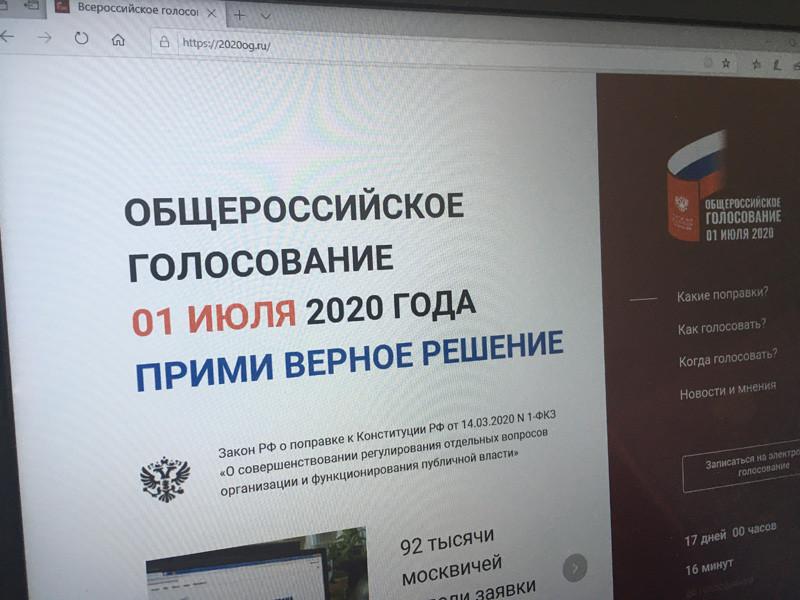 В первоначальной версии сайта для электронного голосования по поправкам в Конституцию РФ не были упомянуты изменения в статью 81, позволяющие действующему президенту Владимиру Путину вновь участвовать в выборах