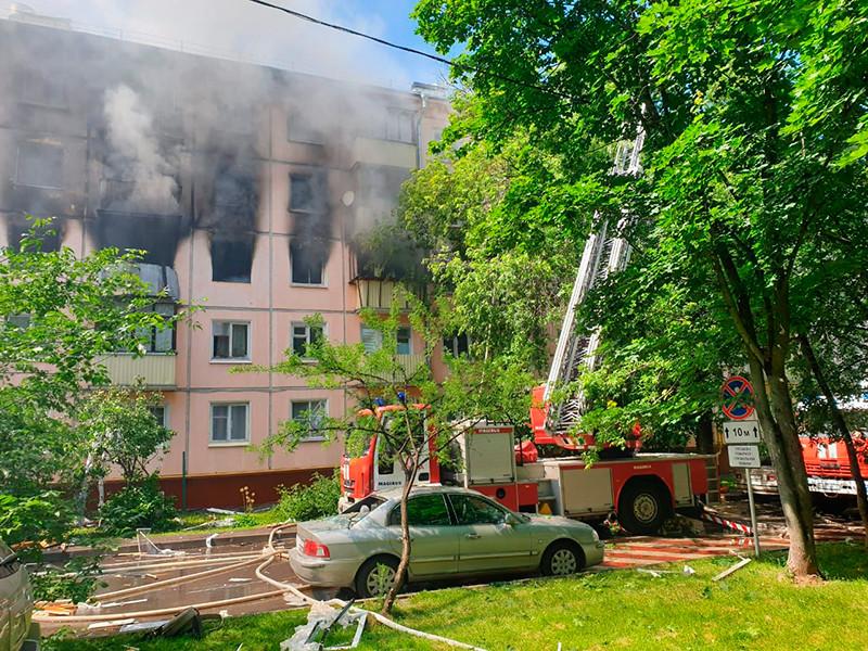 На северо-востоке Москве произошел взрыв в жилом пятиэтажном доме на улице Проходчиков