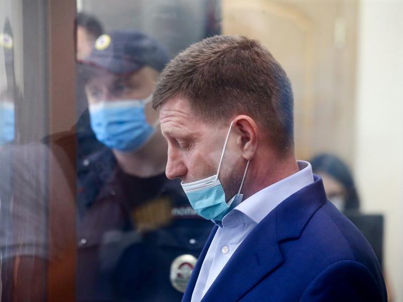 Судья Басманного районного суда Москвы Артур Карпов заключил под стражу губернатора Хабаровского края Сергея Фургала сроком на два месяца