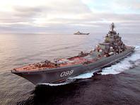 """Атомный ракетный крейсер """"Петр Великий"""" провел в Баренцевом море запуск крылатых ракет """"Гранит"""" и """"Вулкан"""" (ВИДЕО)"""