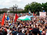 """В Хабаровске прошла новая акция, которую называют еще более массовой, чем неделю назад (ФОТО, ВИДЕО). Дегтярев предпочел уехать в """"глубинку"""""""
