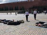 На Красной площади задержали активистов, выложивших телами число 2036