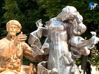 В Великом Новгороде задержали мужчину, разукрасившего скульптуру Садко