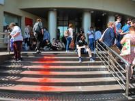 """У здания Люблинского районного суда перед оглашением приговора по делу """"Нового величия"""""""