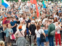 В городах России прошли акции солидарности с Хабаровским краем (ВИДЕО)