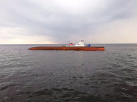 На Рыбинском водохранилище перевернулся сухогруз, пропали два члена экипажа