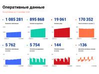 В России максимальный прирост заболевших COVID-19 за сутки с конца июля, общее число умерших превысило 19 тысяч