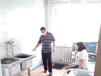 Специализированный госпиталь для лечения больных Covid-19 в Новокузнецке, июль 2020 года