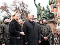 Путин в День народного единства послушал на Красной площади обновленные колокола Спасской башни