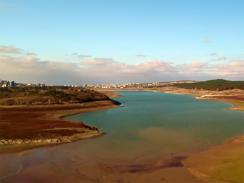Симферопольское водохранилище, ноябрь 2020 года