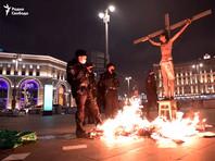 """""""Они думают, что христиане соплежуи"""": Фонд славянской письменности пожаловался вМВД иСК наакцию с распятием на Лубянке"""