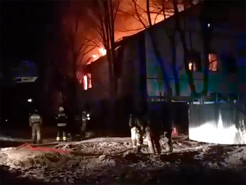 В подмосковном Красногорске горит лаборатория Федерального медико-биологического агентства