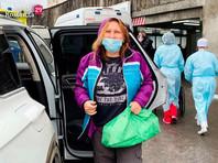 Маргариту Юдину, которую в прошлую субботу ударил в живот полицейский, выписали из больницы после повторной госпитализации