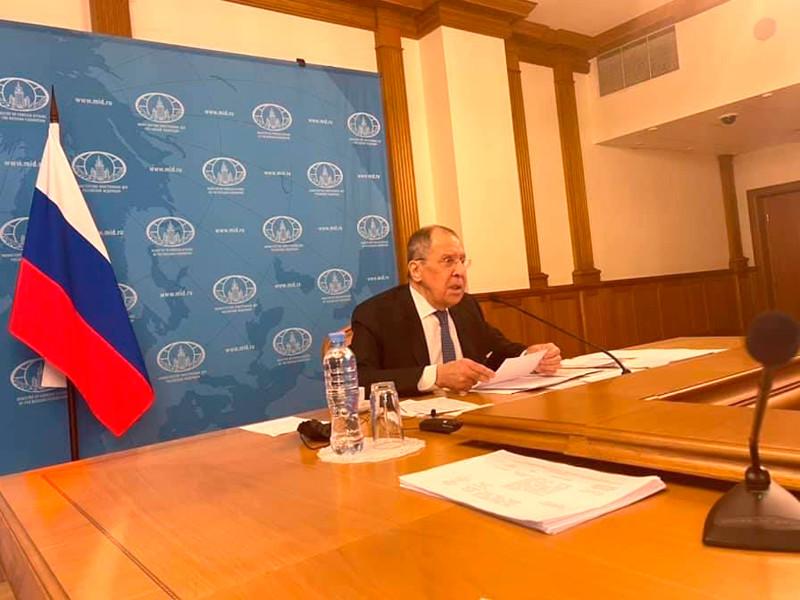 Пресс-конференция министра иностранных дел России, посвященная внешнеполитическим итогам ушедшего года