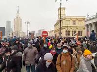 Протестующие в Москве и Петербурге вышли на проезжую часть, парализовав движение транспорта (ВИДЕО)