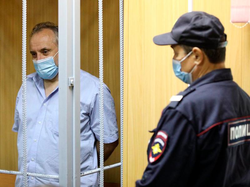 Олег Шереметьев в Пресненском районном суде, август 2020 года