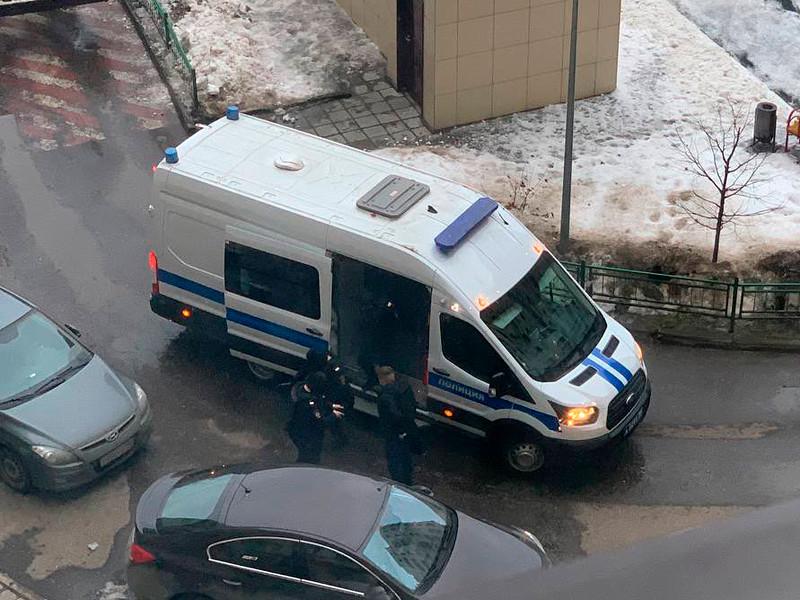 Полиция у дома Юлии Навальной