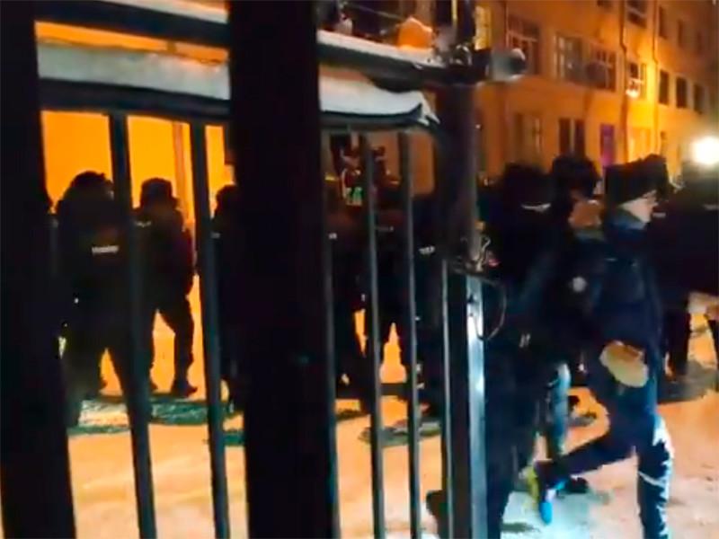 Задержание протестующих в Химках