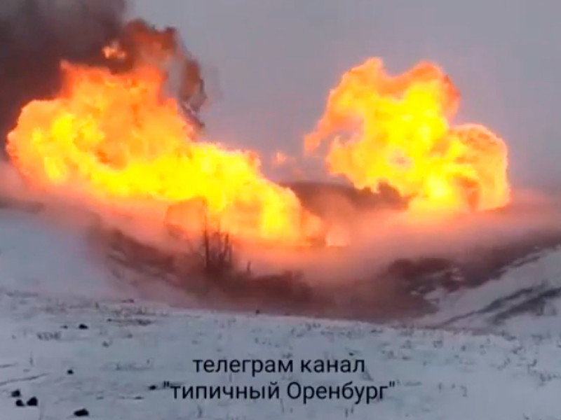 Gas leak with explosion occurred on the main gas pipeline in the Ilek region
