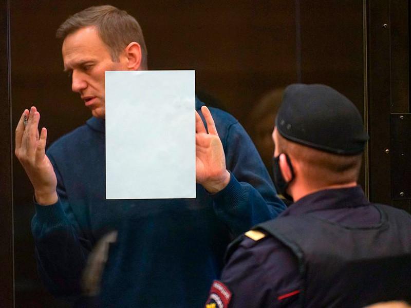 Алексей Навальный в Мосгорсуде, 2 февраля 2021 года