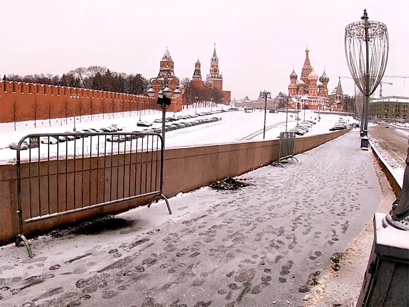 Большой Москворецкий мост, 22 февраля 2021 года