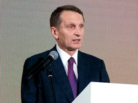 """Нарышкин обвинил несистемную оппозицию в """"преступных сделках"""" с западными спецслужбами"""