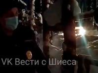 """Полиция в палаточном лагере на посту """"Баня"""", 17 февраля 2021 года"""