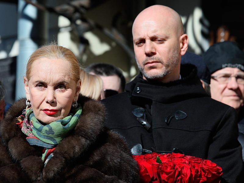 Вдова И.Кобзона Нелли Кобзон и сын Андрей Кобзон
