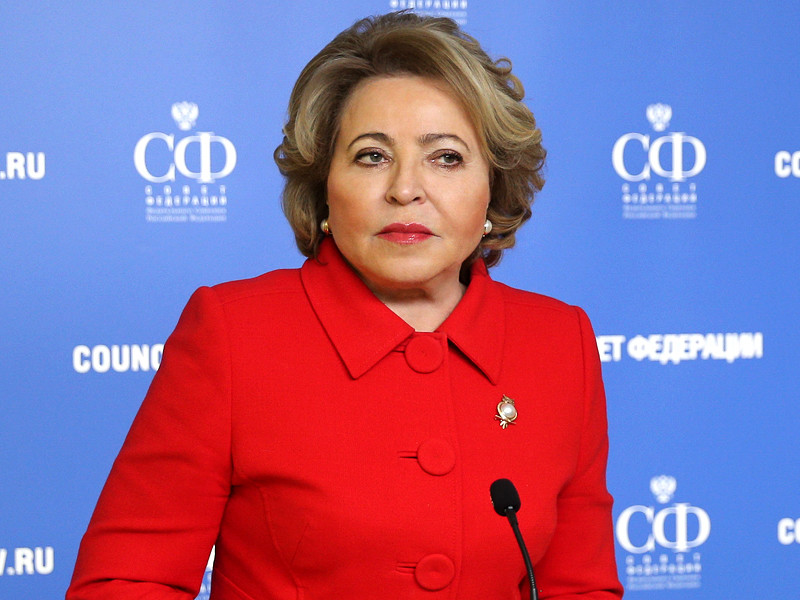 """Federation Council Speaker Valentina Matvienko expressed outrage at the rumors spread about her supposedly """"fabulous"""" pension.  She assured that this is a fake and a myth"""
