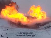 На магистральном газопроводе в Илекском районе произошла утечка газа со взрывом