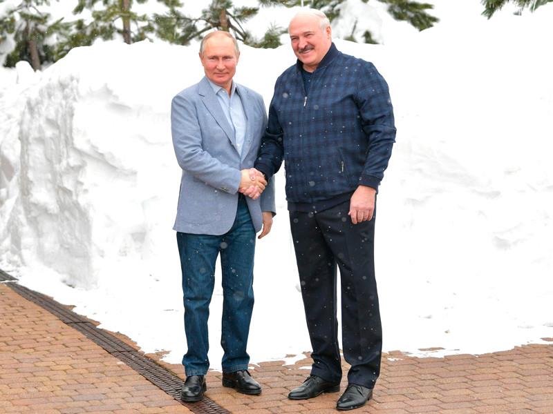 Владимир Путин и Александр Лукашенко, 22 февраля 2021 года
