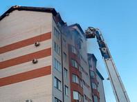 В Анапе возник пожар в восьмиэтажном жилом доме
