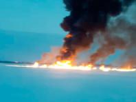 Возгорание на месте порыва подводного продуктопровода в ХМАО полностью ликвидировано