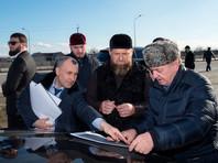 Рамзан Кадыров на планируемом месте строительства новой автомагистрали, март 2021 года