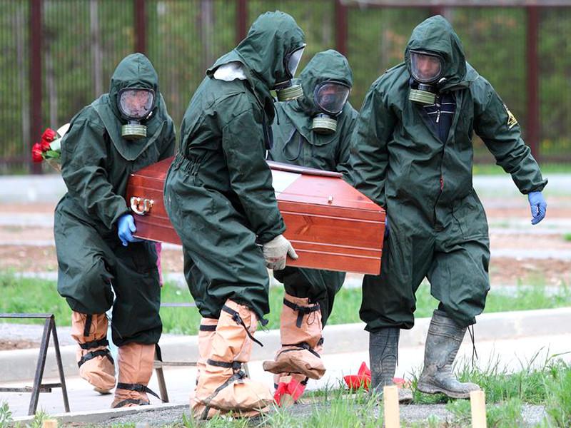 Похороны пациентов, умерших от коронавируса, на Бутовском кладбище, май 2020 года