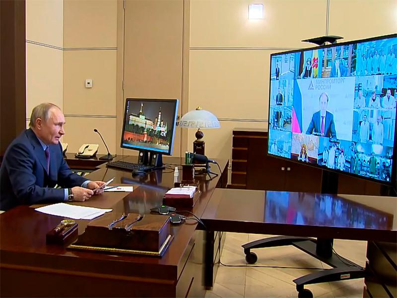 Владимир Путин в режиме видеоконференции провел совещание по вопросам наращивания производства вакцин и проведения вакцинации против COVID-19 в России
