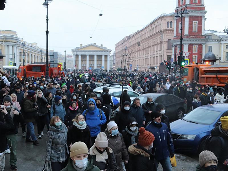 """""""Медуза"""": в ФСБ насчитали 90 тыс. участников январских протестных акций, среди них были сотрудники Минобороны и Росгвардии"""