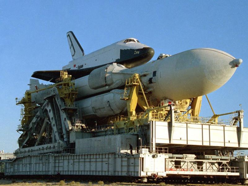 """15 ноября 1988 года с площадки был произведен первый и единственный запуск многоразового орбитального ракетоплана """"Буран"""", задуманного как ответ американским """"шаттлам"""""""